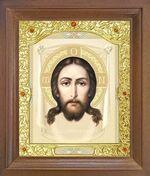 Спас Нерукотворный. Икона в деревянной рамке с окладом (Д-26псо-24)