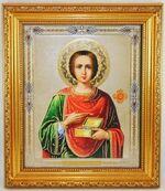 Пантелеймон, Икона в багетной рамке 19 Х 22