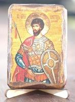 Виктор, Св.Муч., икона под старину, сургуч (8 Х 10)