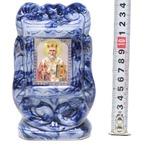Николай Чудотворец, керамика, икона малая, цвет тёмная глазурь (СА).