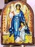 Ангел с детьми, икона под старину, сургуч, АРКА (17 Х 24)