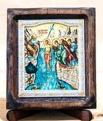 Крещение Господне, Икона Византикос, полуоклад, 8Х6