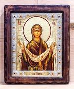 Покров Б.М., Икона Византикос, полуоклад, 12Х14