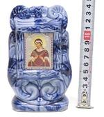 Семистрельная Б.М., керамика, икона малая, цвет тёмная глазурь (СА).