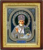 Николай Чудотворец, икона в деревянной рамке (Д-18пс-28)