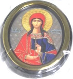 Кристина. Икона настольная малая, зол. кант, овал. (50 Х 65)