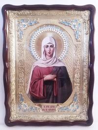 Елизавета. Св. муч., в фигурном киоте, с багетом. Храмовая икона (60 Х 80)