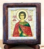 Анатолий Св.Мч., Икона Византикос, полуоклад, 8Х6