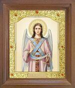 Ангел Хранитель. Икона в деревянной рамке с окладом (Д-26псо-03)