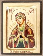 Семистрельная Б.М., икона Греческая, 17 Х 23