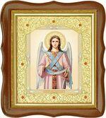 Ангел Хранитель, средняя аналойная икона, фигурный киот (Д-20фс-03)