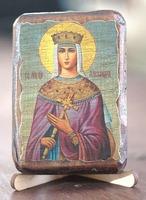 Александра, Св.Мч., икона под старину, сургуч (8 Х 10)