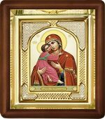 Владимирская Б.М., малая аналойная икона, риза (Д-3с-30)