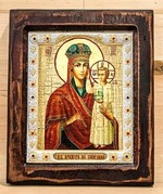 Призри на смирение Б.М., Икона Византикос, полуоклад, 12Х14