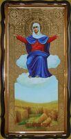 Спорительница хлебов Б.М., в фигурном киоте, с багетом. Храмовая икона 60 Х 114 см.