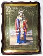 Николай Чудотворец, без митры, св. од., (рост), с багетом. Большая Храмовая икона 60 Х 80 см.