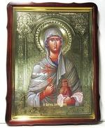 Анастасия Узорешительница, в фигурном киоте, с багетом. Храмовая икона 60 Х 80 см.