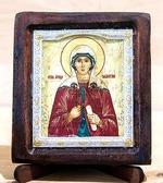 Валентина Св.Мч., Икона Византикос, полуоклад, 8Х6