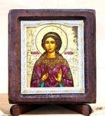 Вероника Св.Муч., Икона Византикос, полуоклад, 8Х6