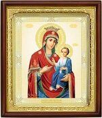 Иверская Б.М., икона в деревянной рамке (Д-18пс-34)