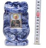 Матрона Московская, керамика, икона малая, цвет тёмная глазурь (СА).