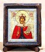 Дарья Св.Муч., Икона Византикос, полуоклад, 8Х6