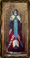 Митрофан Воронежский (рост), в фигурном киоте, с багетом. Большая Храмовая икона 120 х 230 см.