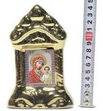 Казанская Б.М., керамика, икона средняя, цвет золото (СА).
