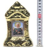 Матрона Московская, керамика, икона средняя, цвет золото (СА).