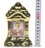 Николай Чудотворец, керамика, икона средняя, цвет золото (СА).