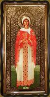 Варвара, Св. Вмч. (рост), в фигурном киоте, с багетом. Большая Храмовая икона 120 х 230 см.