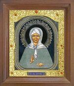 Матрона Московская. Икона в деревянной рамке с окладом (Д-25псо-38)
