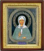 Матрона Московская, икона в деревянной рамке (Д-18пс-38)