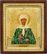Матрона Московская, икона в деревянной рамке (Д-18пс-39)