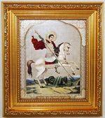 Георгий Победоносец, Икона в багетной рамке 14 Х 16
