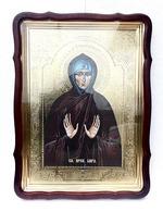 Кира, Св. муч, в фигурном киоте, с багетом. Храмовая икона 60 Х 80 см.
