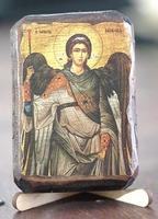 Архистратиг Михаил, икона под старину, сургуч (8 Х 10)