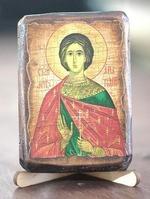 Анатолий, Св.Мч., икона под старину, сургуч (8 Х 10)