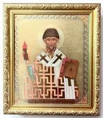 Спиридон Тримифунтский (факел). Икона в багетной рамке 19 Х 22