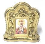 Николай Чудотворец, керамика, икона большая, цвет золото (СА).