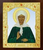 Матрона Московская. Икона в окладе средняя (Д-21-40)