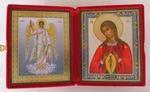Складень мал.карт.(Ангел Хранитель ростовой, Помощница в родах (2)