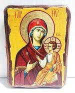 Иверская Б.М., икона под старину, сургуч (17 Х 23)