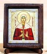 Христина Св.Муч., Икона Византикос, полуоклад, 8Х6