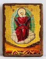 Спорительница хлебов Б.М., икона под старину, сургуч (13 Х 17)