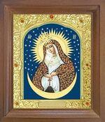 Остробрамская Б.М. Икона в деревянной рамке с окладом (Д-25псо-45)