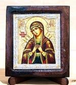 Семистрельная Б.М., Икона Византикос, полуоклад, 8Х6
