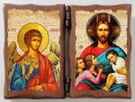 Ангел Хранитель и Благословение детей. Складень под старину 8Х10
