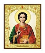 Пантелеймон. Икона в окладе малая (Д-22-47)