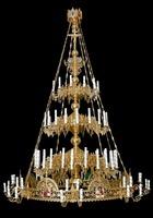 Паникадило К-У-03-54(№ 47), 3-ярусное (54 свечи), с хоросом на 32 свечи